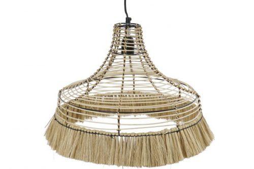 lámpara de metal y yute matilda
